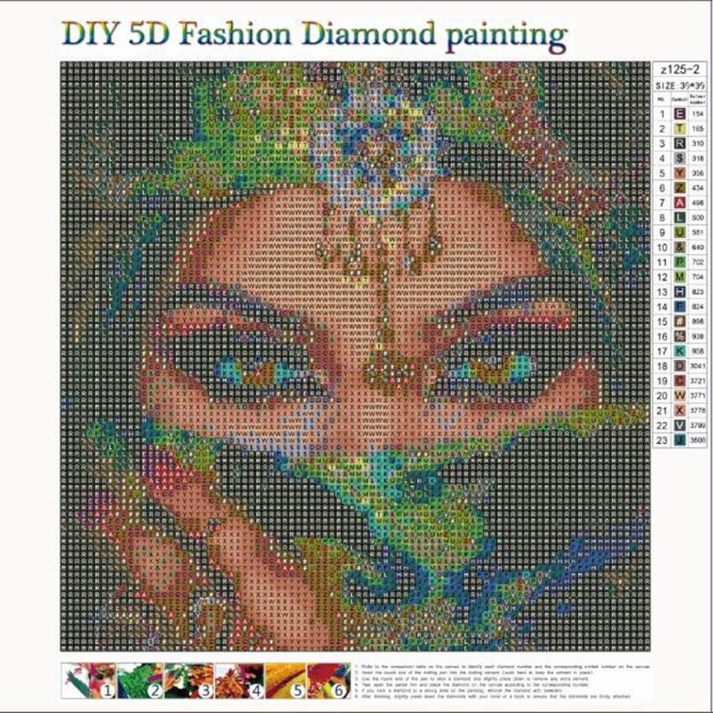 LIOOBO Yeux Masqu/és DIY 5D Diamant Peinture Broderie Point De Croix Peinture Bricolage Arts Artisanat