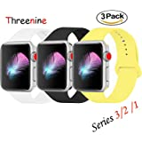 Apple Watch Durable Soft Silicone Band Series 3 Series 2 Series 1 Threenine