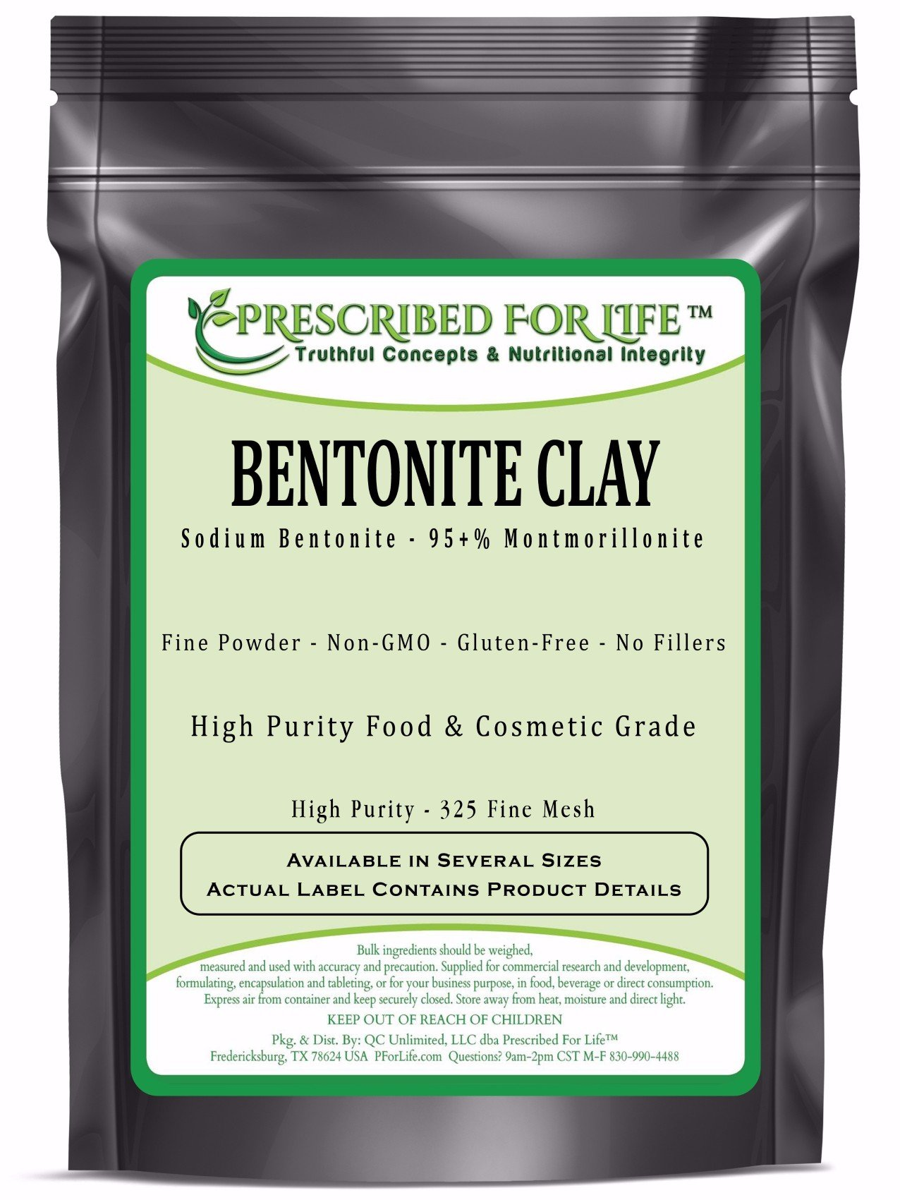 Bentonite Clay - Fine Natural Food Grade Sodium Montmorillonite Bentonite - 325 Mesh Powder, 10 kg