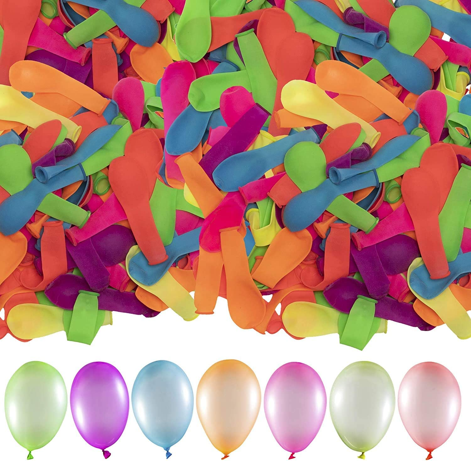 Retail Sign Systems Water Balloons for Kids Girls Boys Balloons Set Party Games Quick Fill Balloons 296 Bunches for Swimming Pool Outdoor Summer Fun