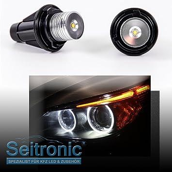 SEITRONIC Faros de LED, LD-360, ojos de ángel xenón en blanco: Amazon.es: Coche y moto