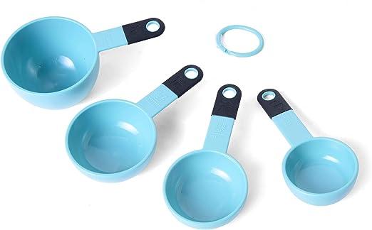Set of 4 Aqua Sky KitchenAid Plastic Measuring Cups