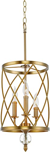 Kira Home Eleanor 13″ Traditional 3-Light Chandelier