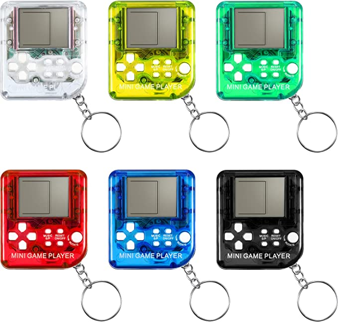 ALL OCCASION PERFECT GAME GIFT FOR KIDS AND ADULTS TETRIS GAME CONSOLE KEY CHAIN