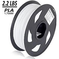Dikale PLA 3D Printer Filament - 1KG(335m/1099ft) 1.75mm, Dimensional Accuracy +/- 0.02 mm, 1KG Spool 1.75 mm, White