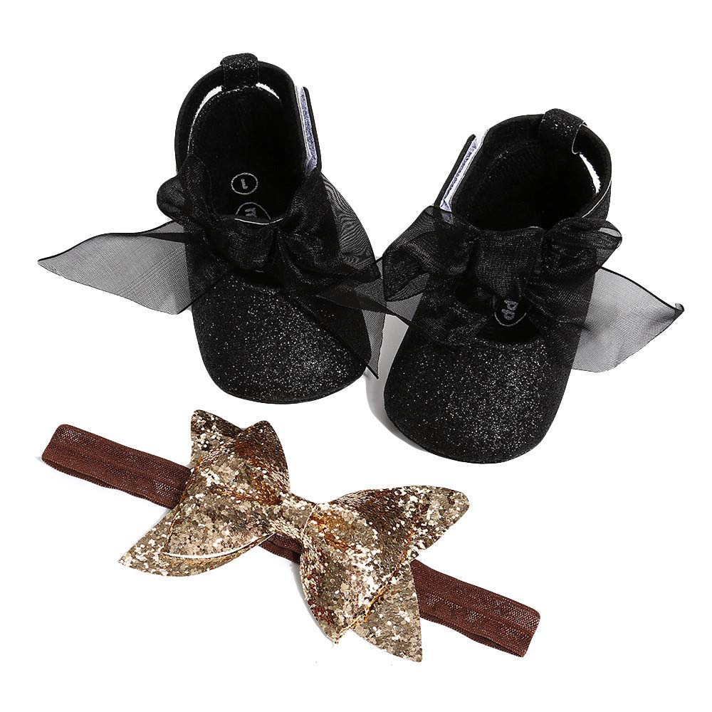 Lefthigh Baby Hairband Girl Shoe Casual Shoes Sneaker Anti-Slip Soft Sole Toddler Shoes