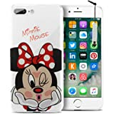 "HCN PHONE Apple iPhone 7 Plus 5.5"" Case silicone cover TPU Transparent Ultra-Fine Drawing animated pretty for Apple iPhone 7 plus 5.5"" - Minnie Mouse + mini stylus"