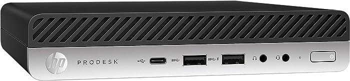 HP ProDesk 600 G3 Mini PC Desktop Intel Core i5-6500T (Quad Core) 16GB RAM 256GB PCIe Solid State Drive USB-C Windows 10 Professional (Renewed)