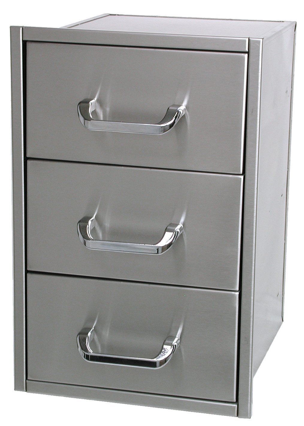 Solaire Narrow/Shallow Stainless Steel Drawer Set for Built-in Islands, Set of 3