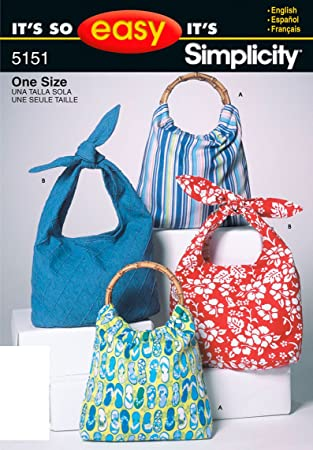 Amazon.com: Simplicity Sewing Pattern 5151 It\'s So Easy Bags, One Size