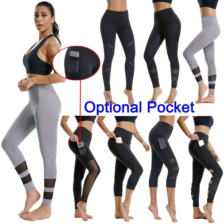070fa03b90 Hi-Waist Sport Hot Yoga Leggings, Slimming Fitness Running Pantsin Grey&  Mesh Designed 16-18: Amazon.co.uk: Clothing
