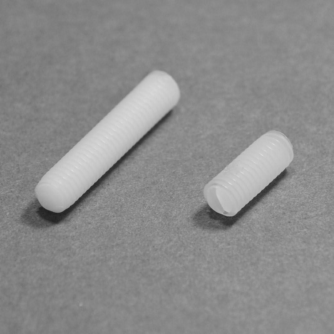 ajile longueur L = 20 mm plastique polyamide PA6.6 isolant M5 Vis sans t/ête fendue nylon diam 20 pi/èces