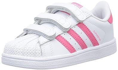 adidas superstar blancas con rosa