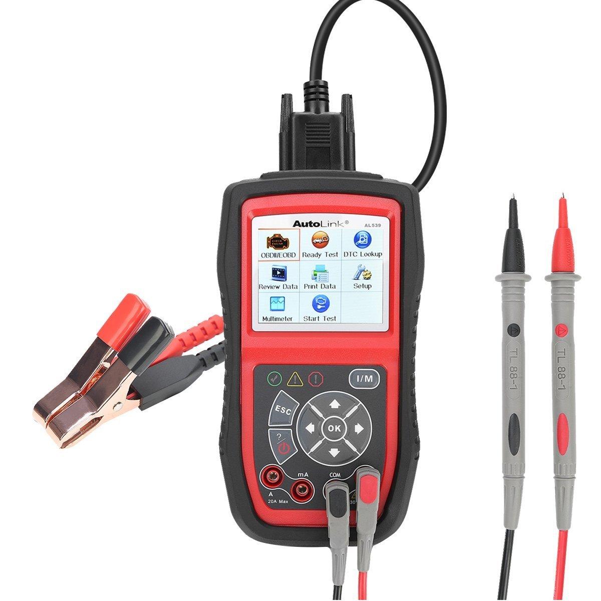 Autel AL539, CAN / OBDII Codereader Professional Electric Test Tool avec AMPS, Test de circuit