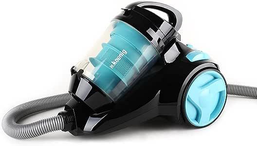 H.Koenig SLC80 - Aspirador sin bolsa multiciclónico silencioso +,74 db , Filtro HEPA, Capacidad 2.5 l, Color Azul [Clase de eficiencia energética A]: Amazon.es: Hogar