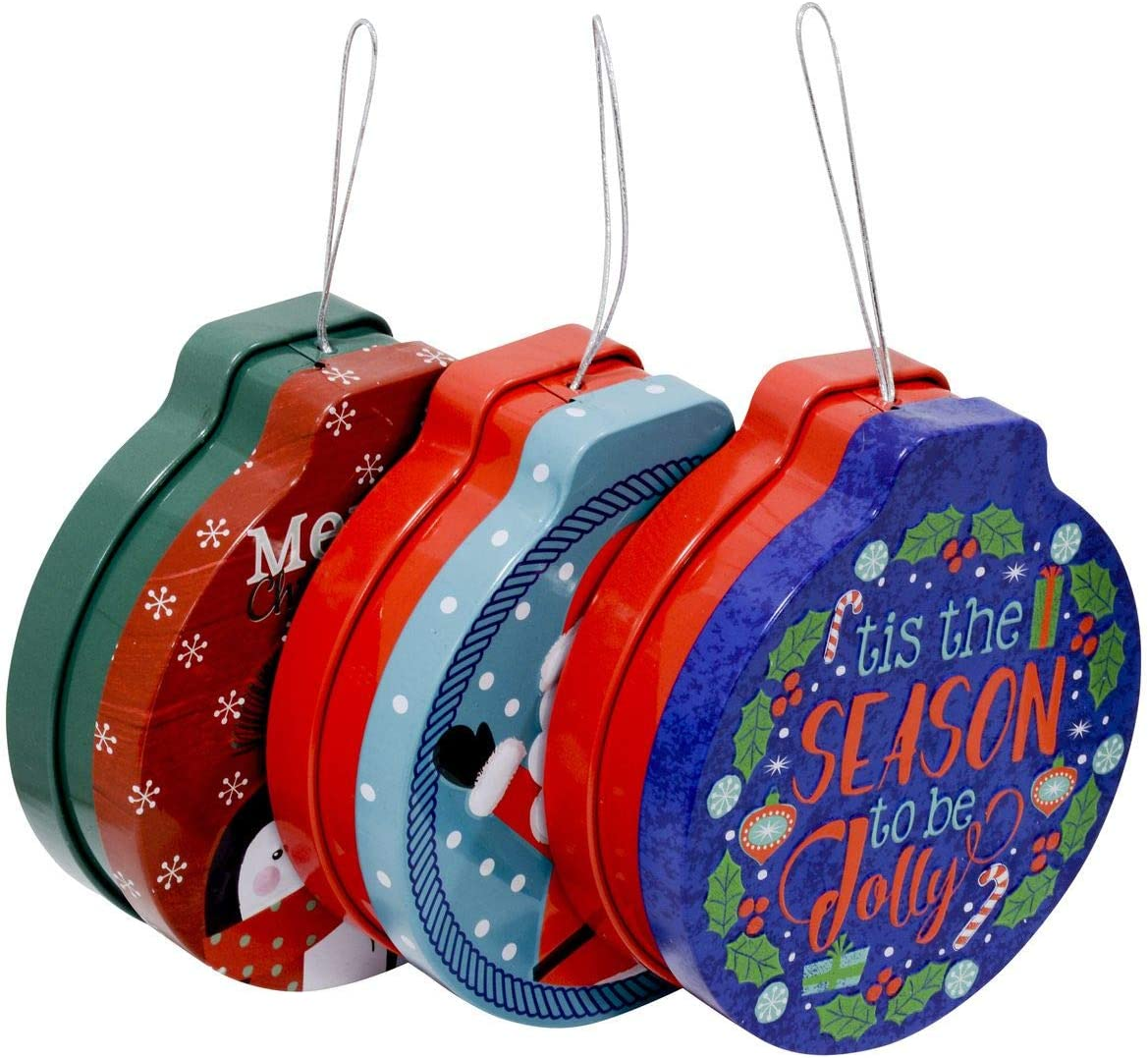 Christmas Ornament Gift Card Tins