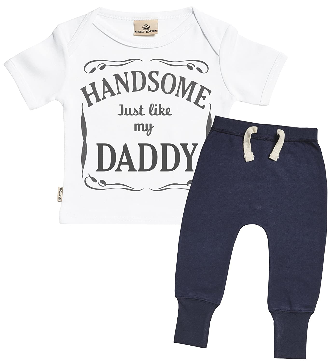 3f5a56480 Amazon.com  SR - Handsome Just Like My Daddy Design Baby Outfit ...