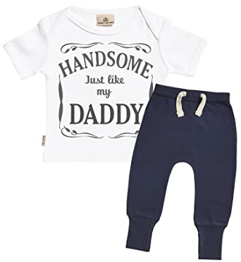 811345e8aa01 Amazon.com  SR - Handsome Just Like My Daddy Design Baby Outfit ...