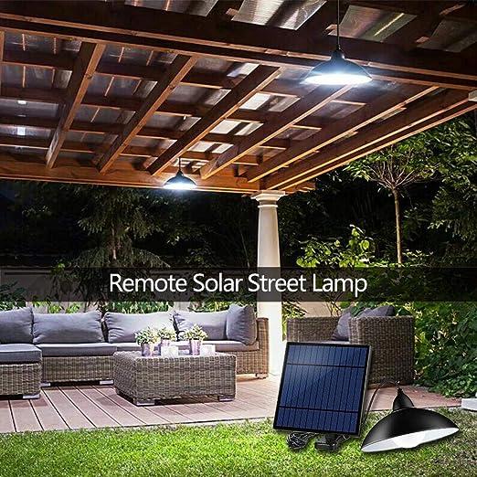 Starnearby Lámpara solar para exterior, lámpara de techo solar con mando a distancia, lámpara solar portátil, lámpara colgante: Amazon.es: Iluminación