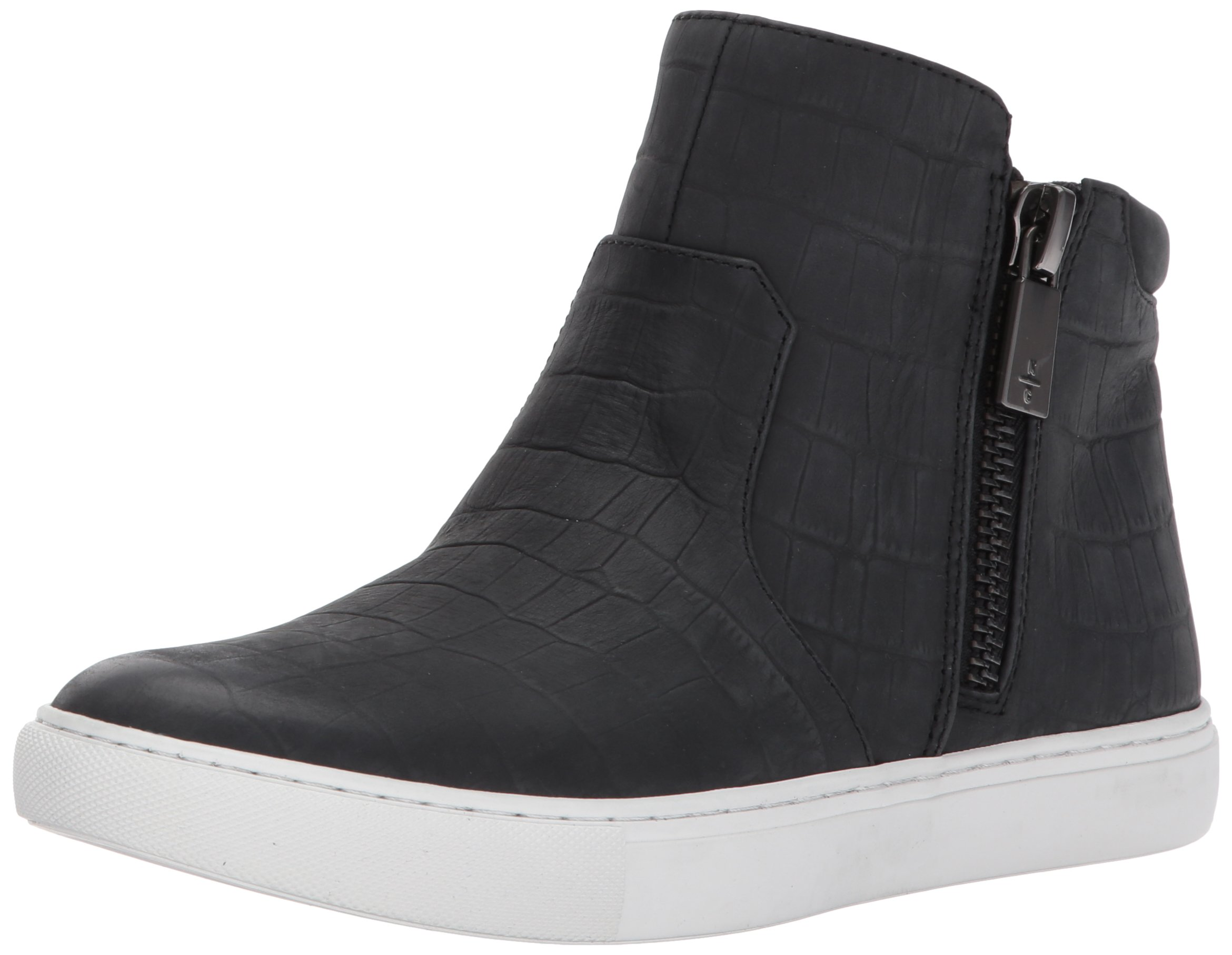 Kenneth Cole New York Women's Kiera Mid-Top Zippers Embossed Print Fashion Sneaker
