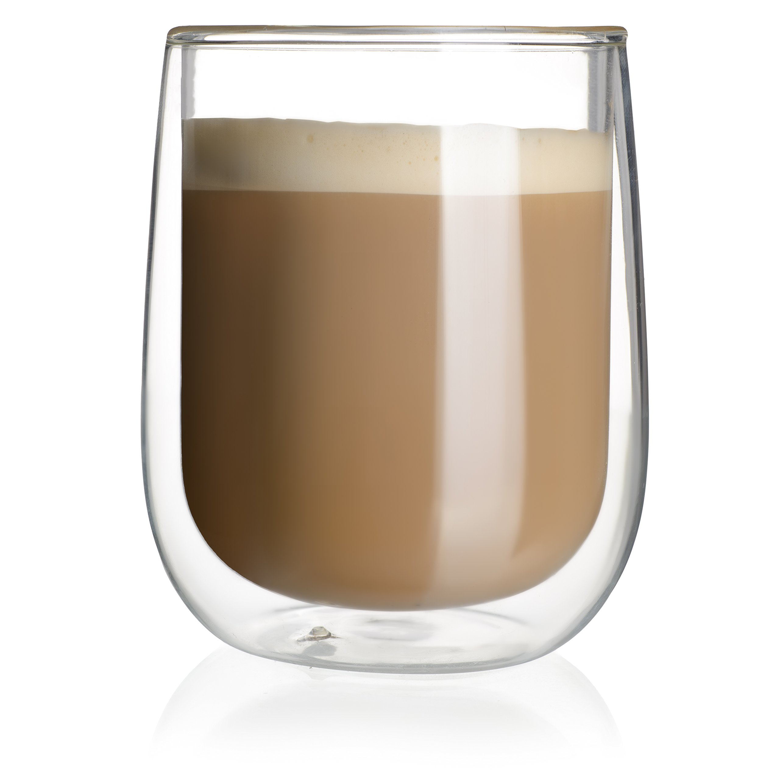 Double Walled Coffee or Tea Glasses, Perfect Espresso Cappuccino Cups or Latte Mugs, Thermo Insulated Premium Quality Borosilicate Glass, Set of 2 (12.1 oz, 360 ml), by HomeKitchenStar by HomeKitchenStar (Image #8)