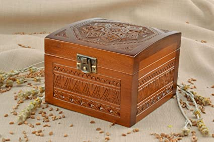 Caja de madera decorativa hecha a mano Sonora