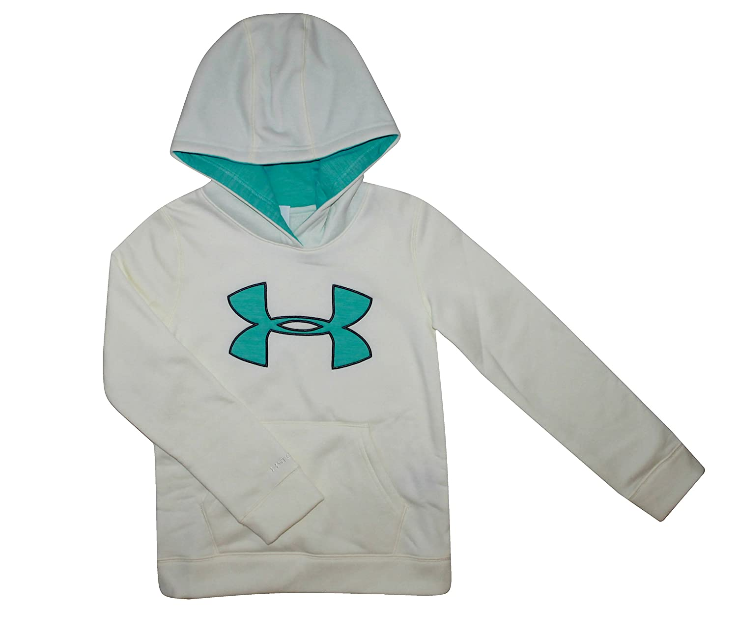 Under Armour Youth Big Girls UA Storm Big Logo Hoodie White Athletic Hoody