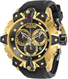 Invicta Men's Reserve Stainless Steel Quartz Watch with Silicone Strap, Black, 26 (Model: 32227)