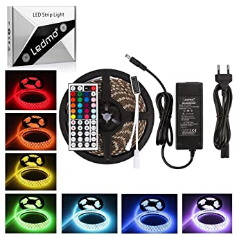 LEDMO RGB LED Streifen 5M, Stripes, Stripe Band 300 LED(SMD5050 ...