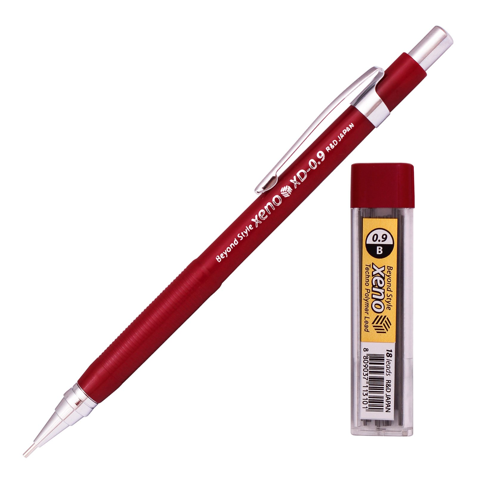 Xeno Beyond Style-Xd Mechanical Pencil for Drafting Sharp Pencils 0.3 mm /0.5 mm /0.7 mm /0.9 mm/ 1.3 mm (Pack of 5 Pencils) + Lead by Xeno (Image #4)