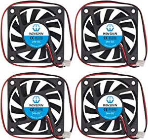 WINSINN 60mm Fan 24V Brushless 6010 60x10mm - High Speed (Pack of 4Pcs)