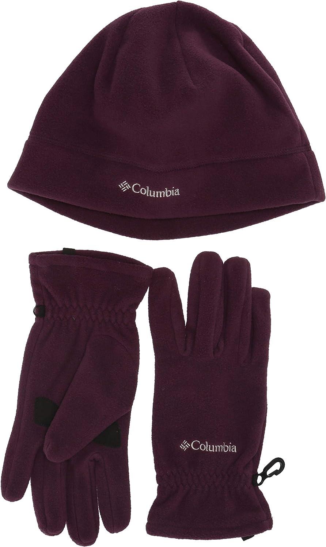 Columbia Mens Fast Trek Hat and Glove Set Beanie/&Gloves