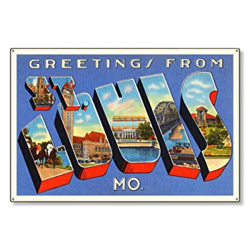 Amazon.com: St Louis Missouri mo Antiguo Retro Vintage ...