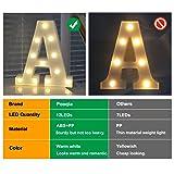 Pooqla LED Marquee Letter Lights Alphabet Light