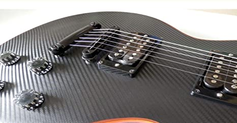 Sticker Vinyl Carbon Fiber Body Guitar & Bass Pegatinas Vinilo Fibra De Carbon Guitarra (Les