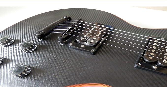 Sticker Vinyl Carbon Fiber Body Guitar & Bass Pegatinas Vinilo Fibra De Carbon Guitarra (Les Paul): Amazon.es: Instrumentos musicales