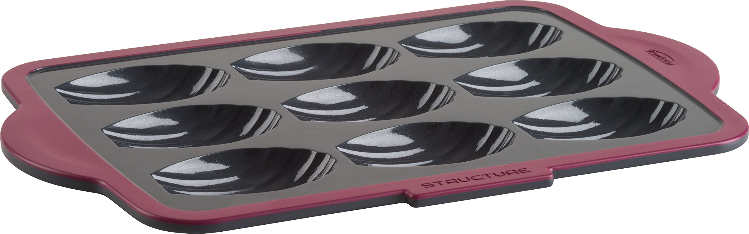 Trudeau 09915023 9 Count Structure Muffin Pans, Grey/Pink by Trudeau (Image #1)