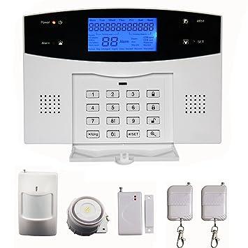 SUNLUXY® Kit Alarma Inalámbrica GSM LCD SMS Detector Magnético Sistema Seguridad para Hogar: Amazon.es: Bricolaje y herramientas