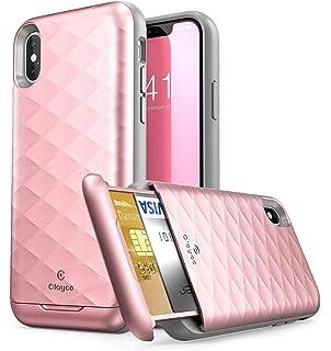 newest 9718c 3c8f9 Amazon.com: Galaxy A6 Case, PimpCase Slim Wallet Case + Dual Layer ...
