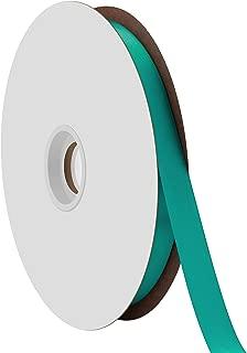 "product image for Offray Berwick 5/8"" Single Face Satin Ribbon, Tornado Blue, 100 Yds"