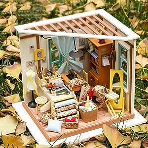 JUNJUNA Creativo De Madera Modelo Bricolaje Casa De Campo Regalo De Cumpleaños: Amazon.es: Deportes y aire libre