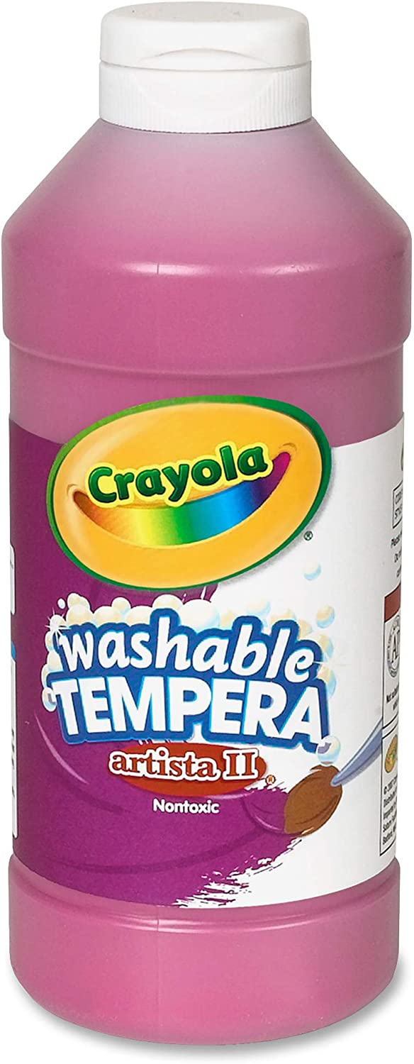 Crayola Washable Tempera Paint, Magenta Paint Craft Supplies, 16 Ounce: Toys & Games