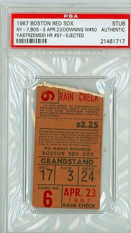 1967 Boston Red Sox Impossible Dream Al Champs Ticket Stub Vs New York Yankees Carl Yastrzemski