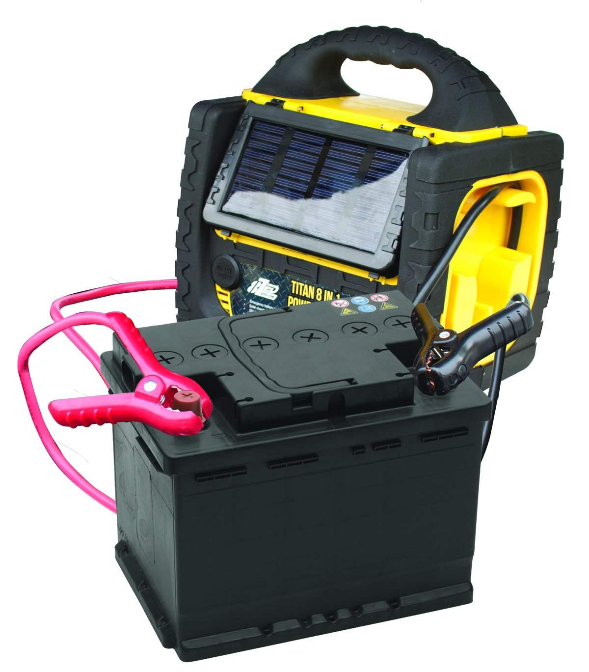 8zed 00040 8 In 1 Power Station With Solar Panel Automotive Deer Feeder Battery Charger On Wiring