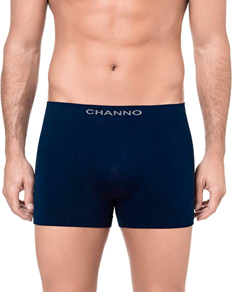 Channo Pack de 4 - Calzoncillos Boxer Licra sin Costura Color Uniforme