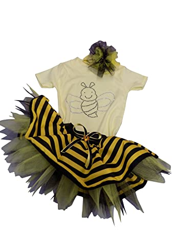 baby bumble bee fancy dress baby suite tutu headband newborn reborn 3 6 months amazon co uk baby