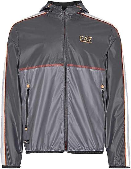 Emporio Armani EA7 3HPB04 - Chaqueta de chándal con capucha para hombre, color negro: Amazon.es: Ropa y accesorios