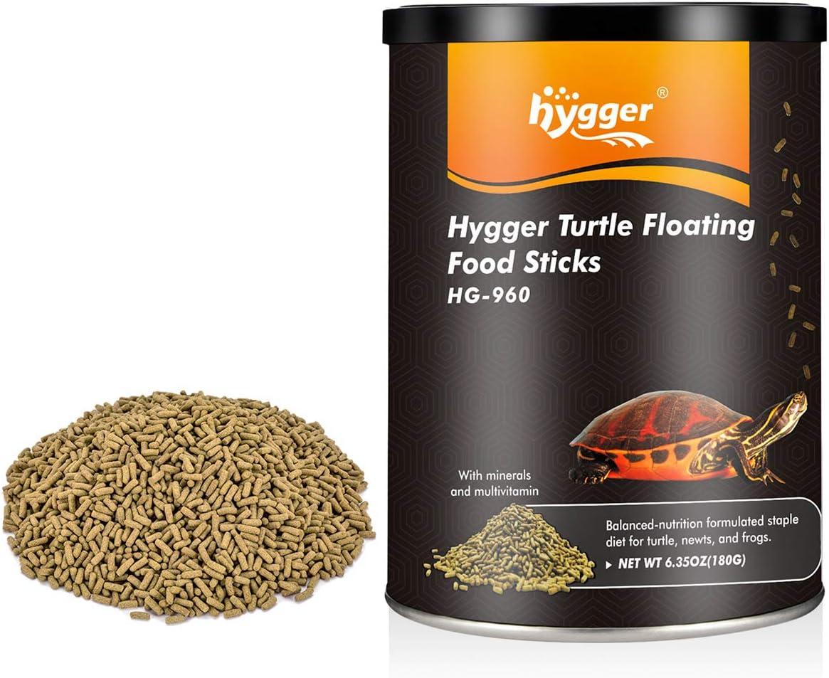 hygger 6.35oz Turtles Formula Food Sticks for All Ages, Blend Aquatic Formula Food Also for Newts, Frogs, Lizard