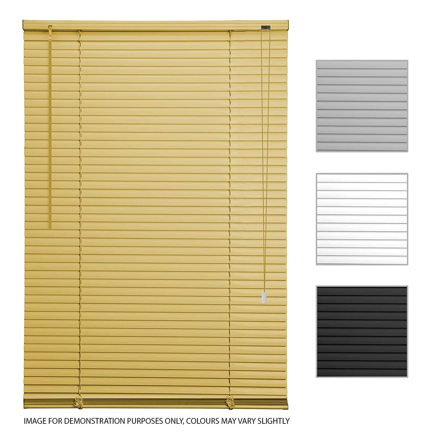 ASAB PVC Venetian Shutter Blinds | Window Mounting Brackets Easily Cut | Home Office Privacy Light Protection | Twist Tilt Open Close Control Wand Pull Cord | 45cm - Grey