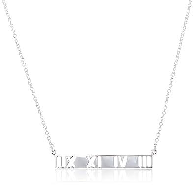 b65810544 Tiffany Atlas Bar Pendant Sterling Silver 37195456] Tiffany Silver Pendant  37195456: Amazon.co.uk: Jewellery